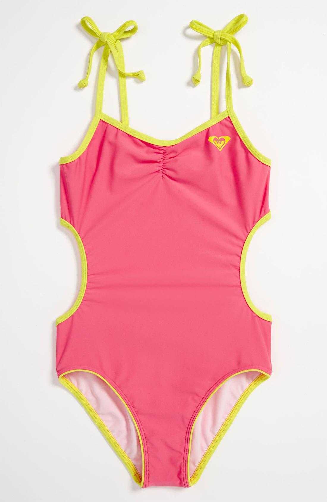 Main Image - Roxy One Piece Swimsuit (Big Girls)