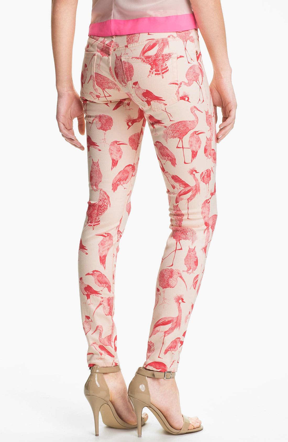 Alternate Image 2  - Ted Baker London Print Stretch Skinny Jeans (Natural)