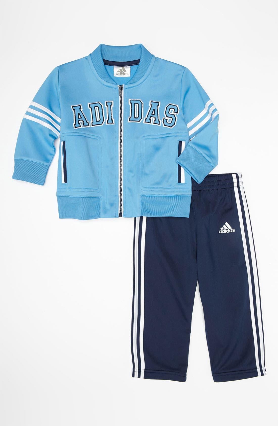 Alternate Image 1 Selected - adidas 'Team' Jacket & Pants (Infant)