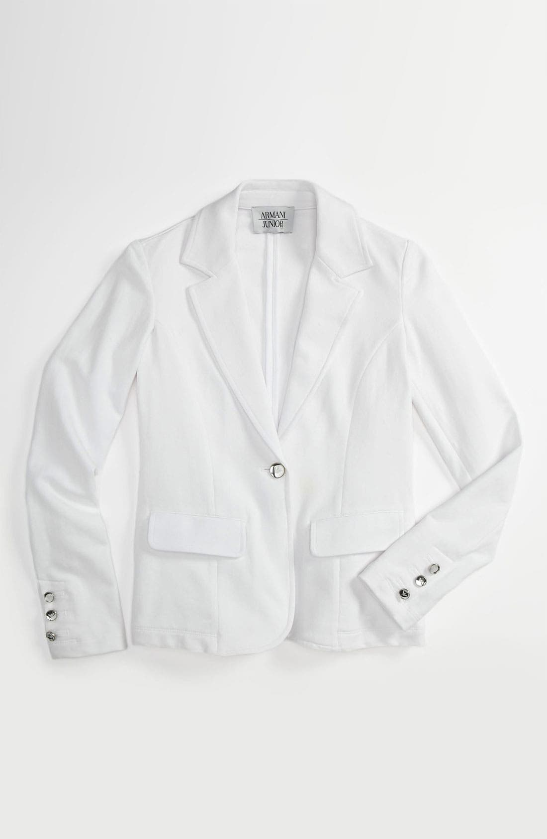 Main Image - Armani Junior Jersey Blazer (Big Girls)