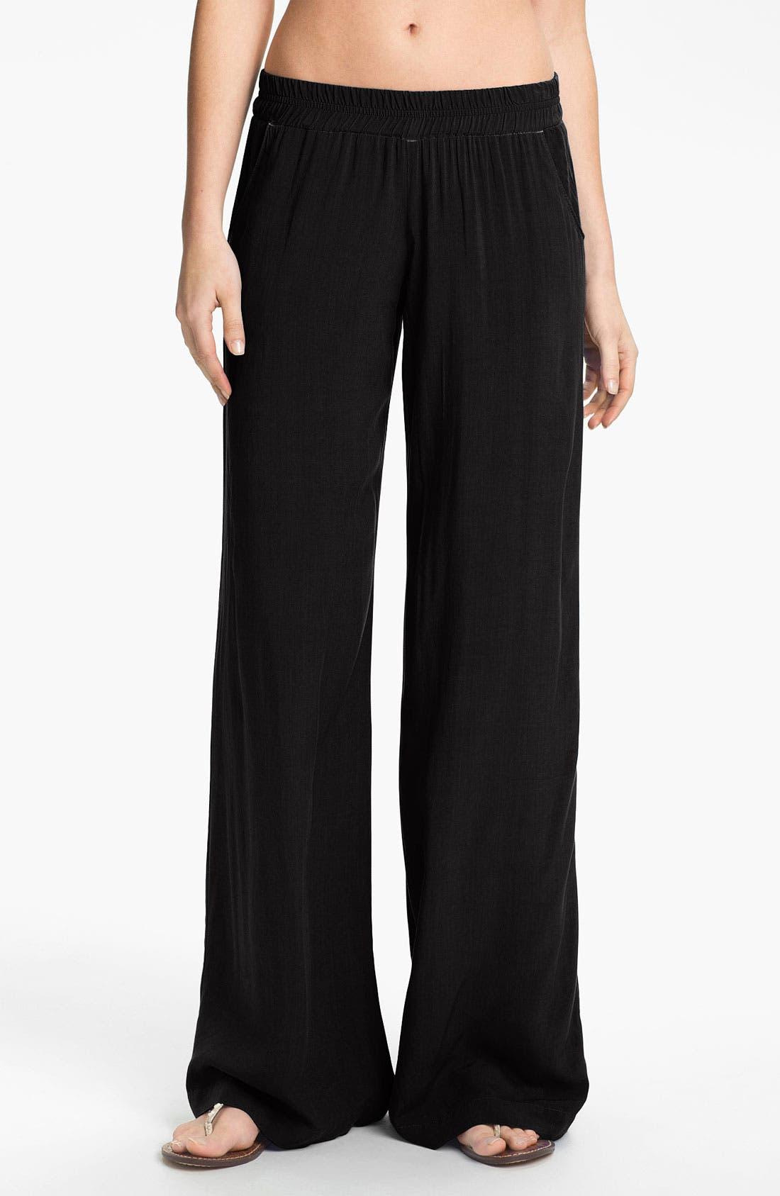 Main Image - Splendid Voile Wide Leg Lounge Pants