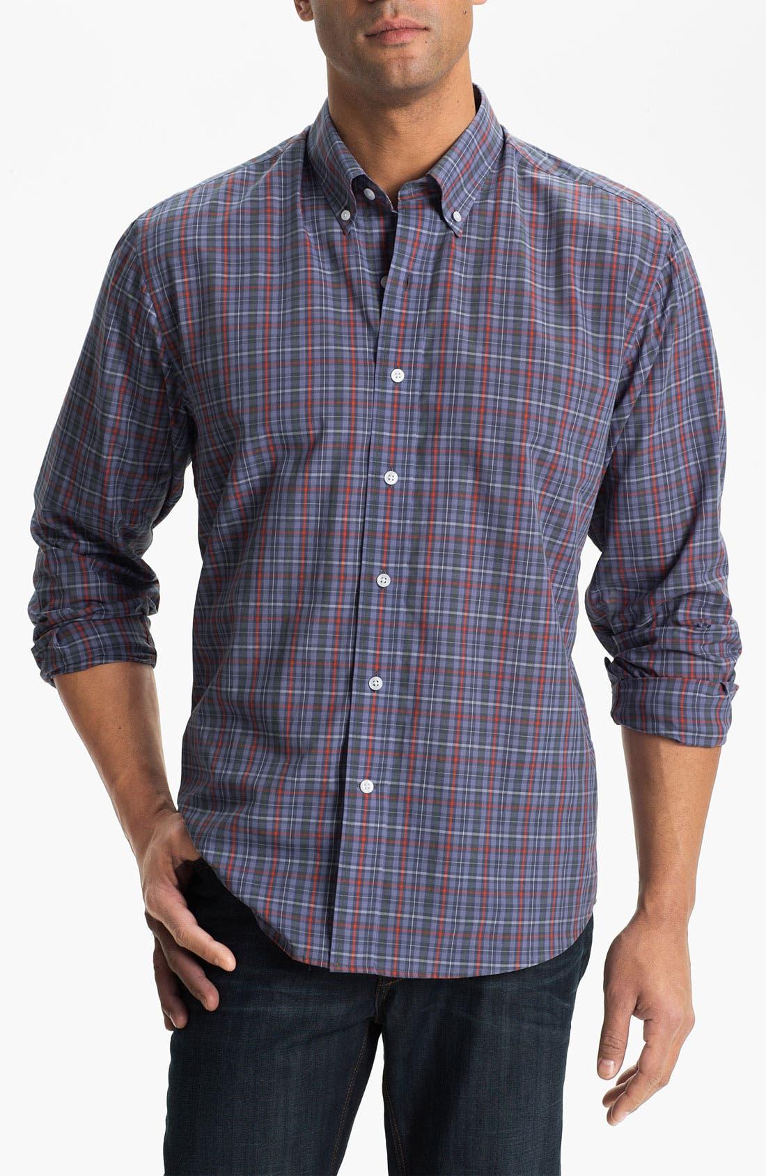 Main Image - Cutter & Buck 'Kent Plaid' Regular Fit Sport Shirt (Online Only)