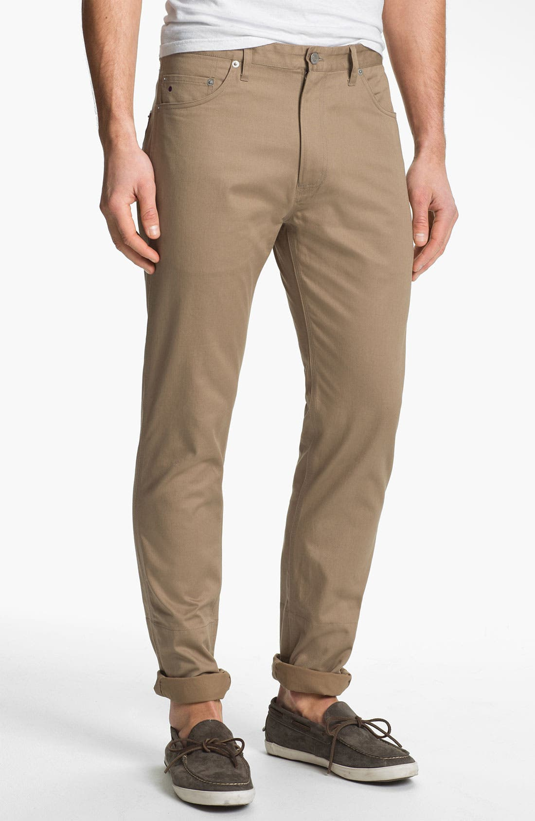 Alternate Image 2  - Stussy Deluxe Slim Straight Leg Twill Pants