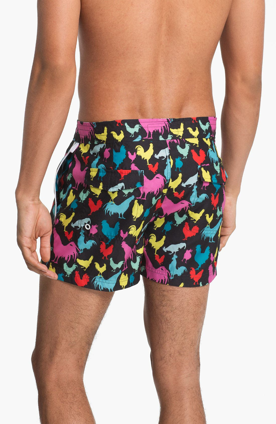 Alternate Image 2  - Original Penguin Printed Swim Shorts