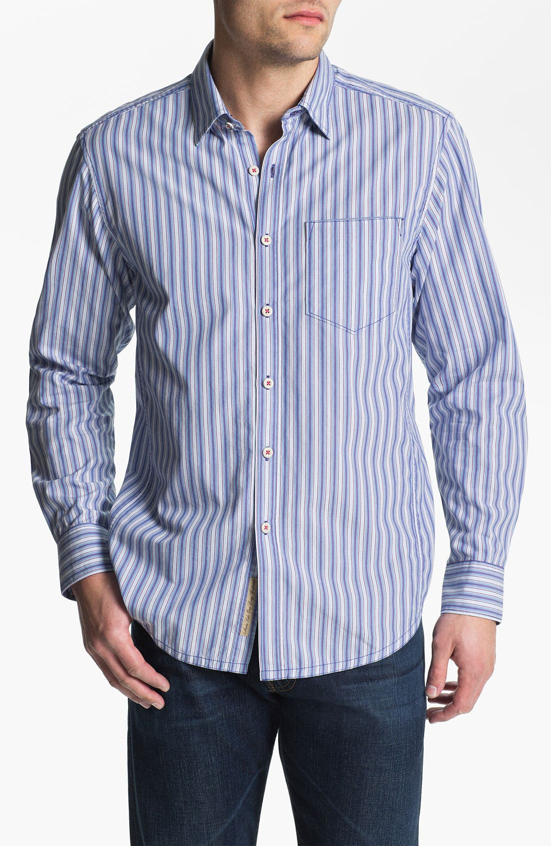 Alternate Image 1 Selected - Tommy Bahama Denim 'Stripe Tease' Sport Shirt