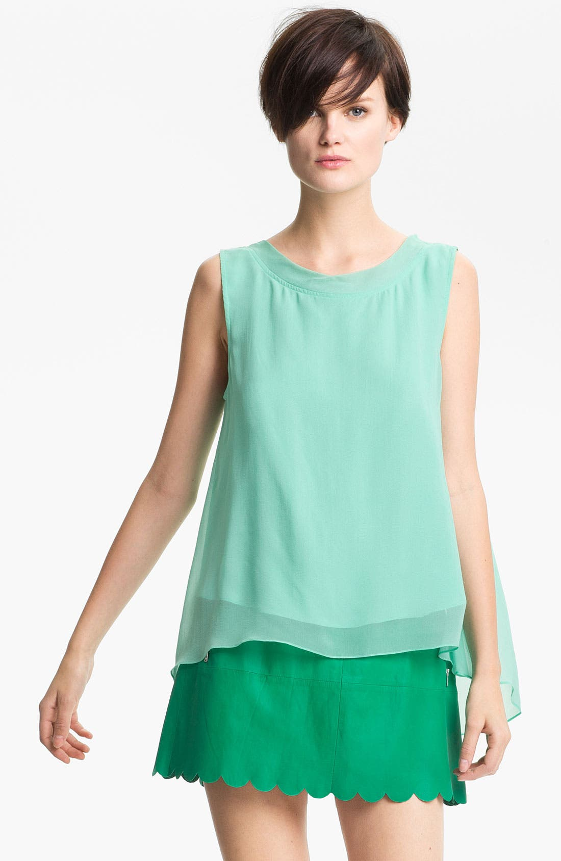 Alternate Image 1 Selected - Tracy Reese Tie Back Silk Tank