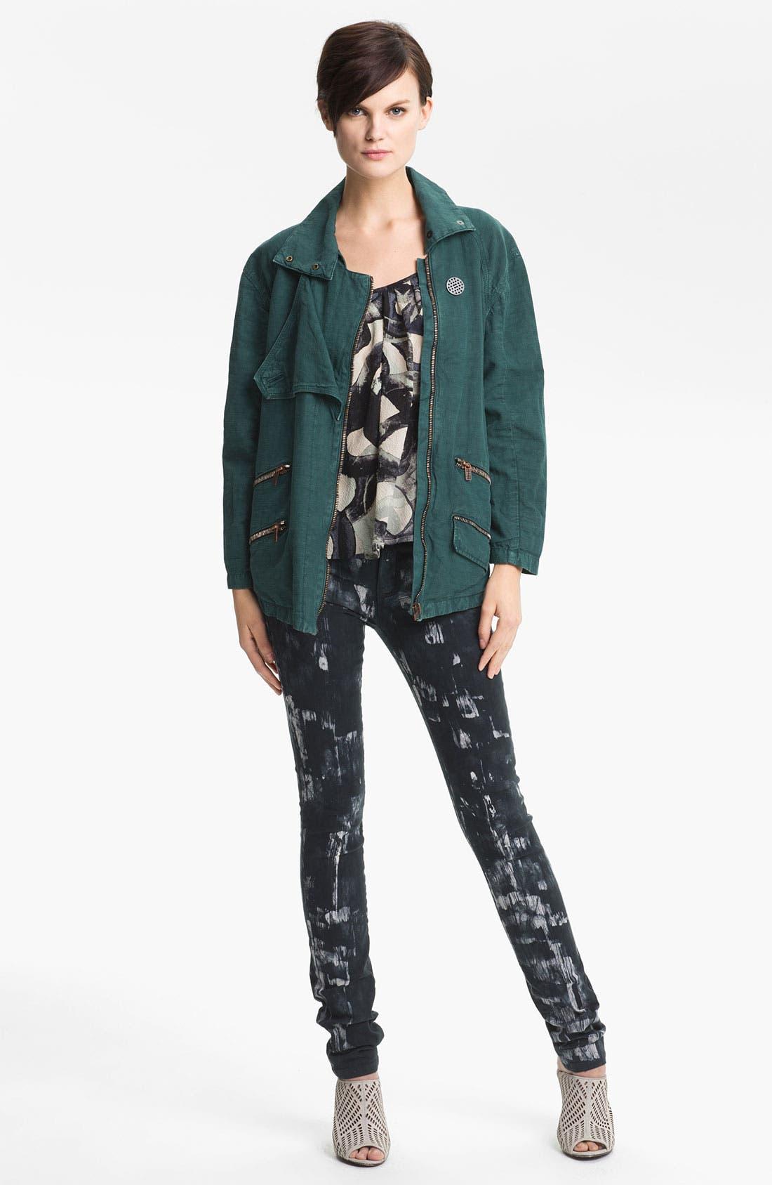 Alternate Image 1 Selected - Kelly Wearstler 'Ornamented' Zip Detail Jacket
