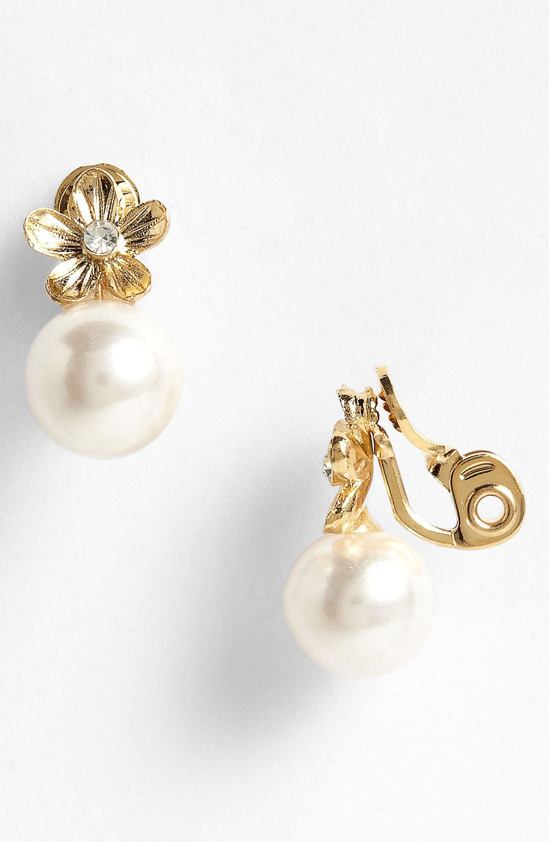 Alternate Image 1 Selected - Anne Klein Clip Earrings