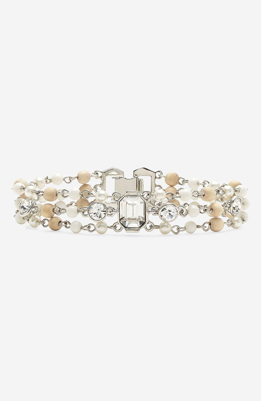 Alternate Image 1 Selected - Givenchy 'Lark' Crystal & Bead Bracelet