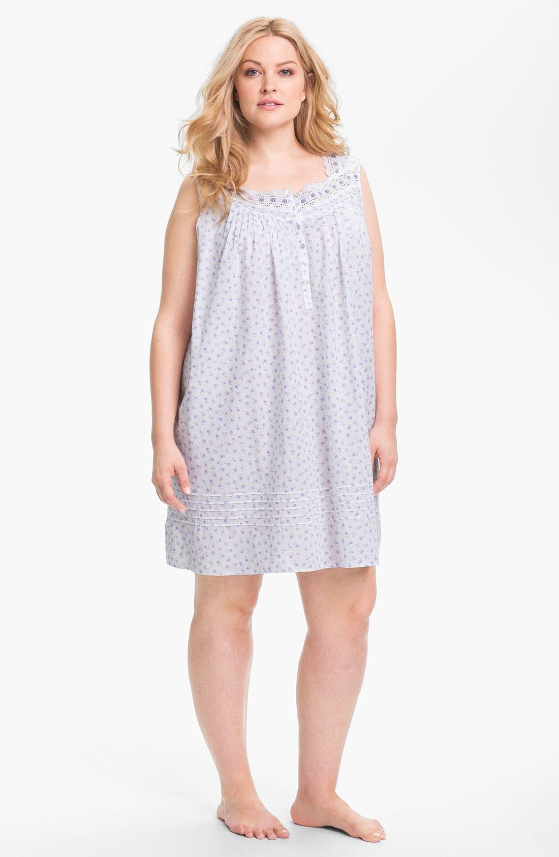 Main Image - Eileen West 'Beautiful Heart' Short Nightgown (Plus)