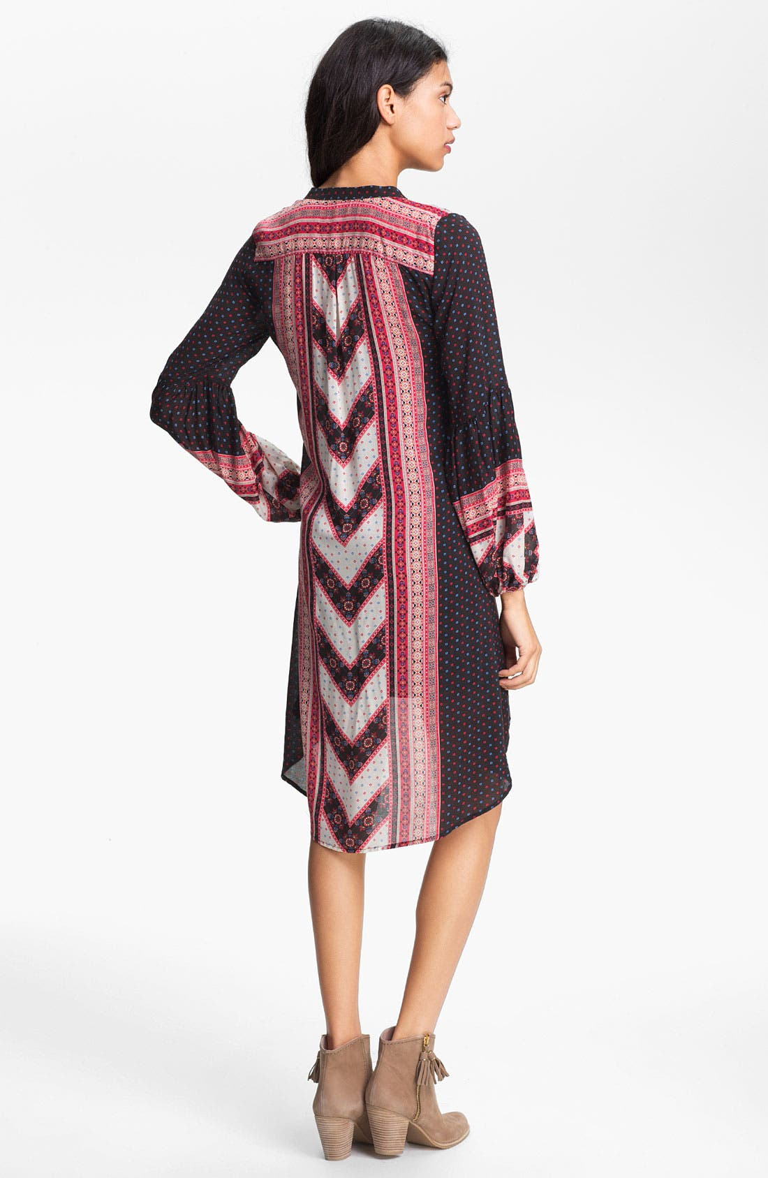Alternate Image 2  - Free People 'Peacemaker' Mix Print Peasant Dress