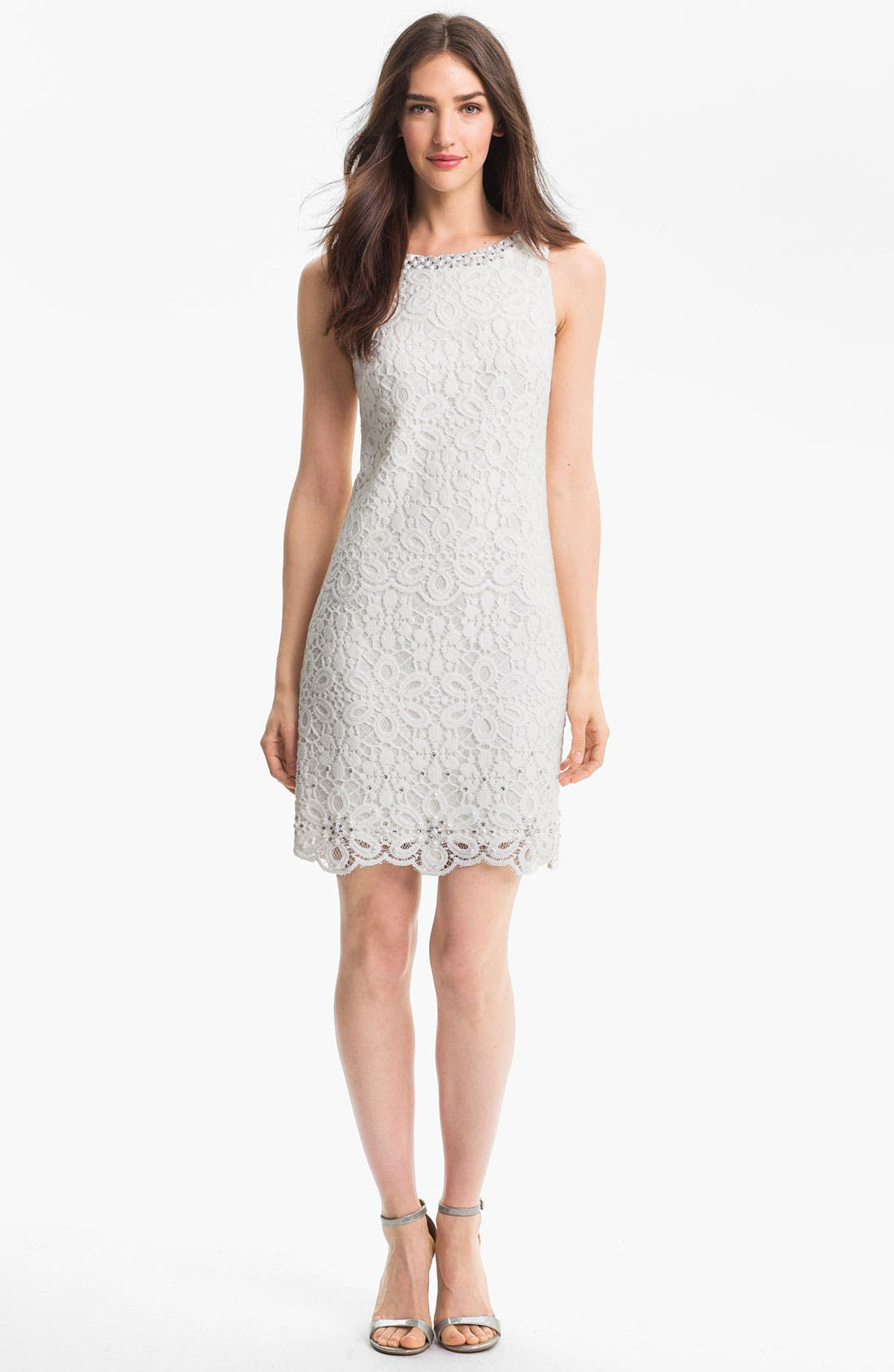 Alternate Image 1 Selected - Laundry by Shelli Segal Embellished Lace Dress