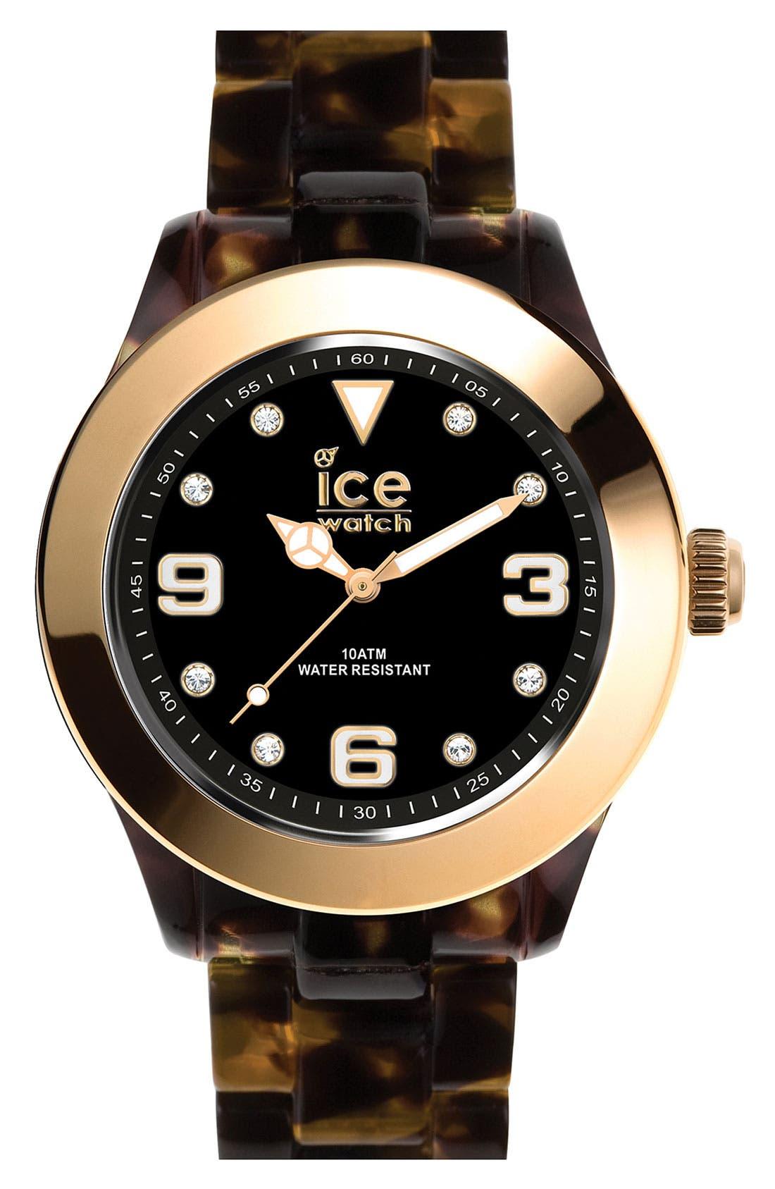 Alternate Image 1 Selected - ICE Watch 'Elegant' Gold Bezel Watch, 43mm