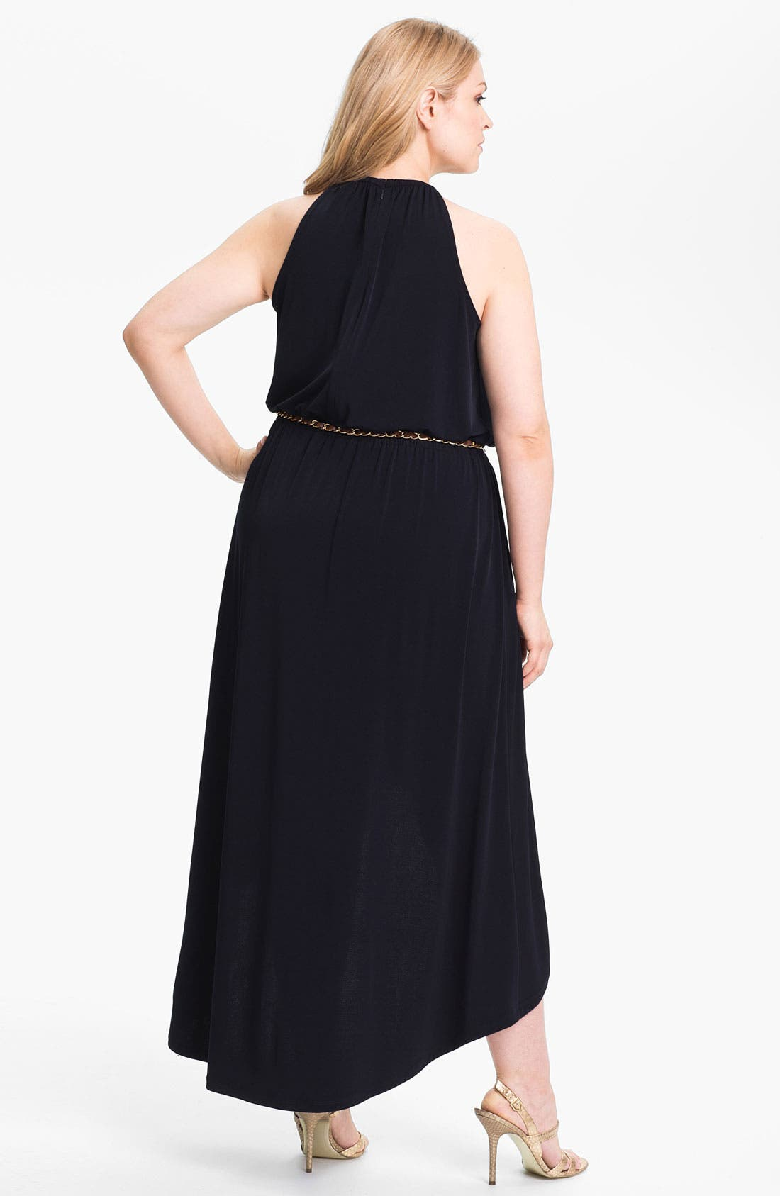 Alternate Image 2  - MICHAEL Michael Kors Draped High/Low Jersey Dress (Plus Size) (Online Exclusive)