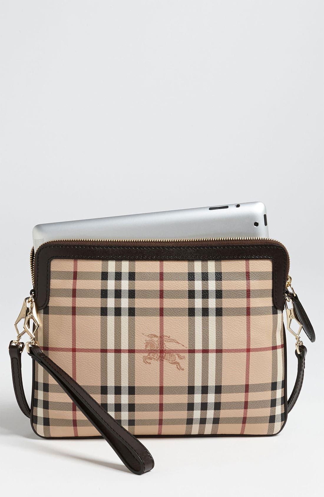 Alternate Image 1 Selected - Burberry 'Haymarket Check' iPad Crossbody Bag