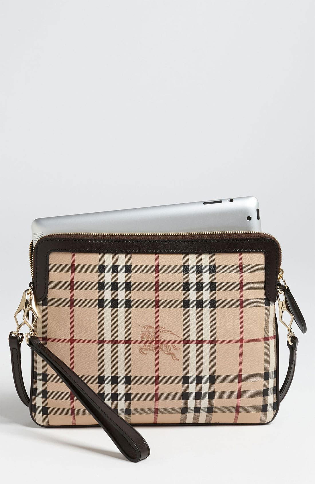 Main Image - Burberry 'Haymarket Check' iPad Crossbody Bag