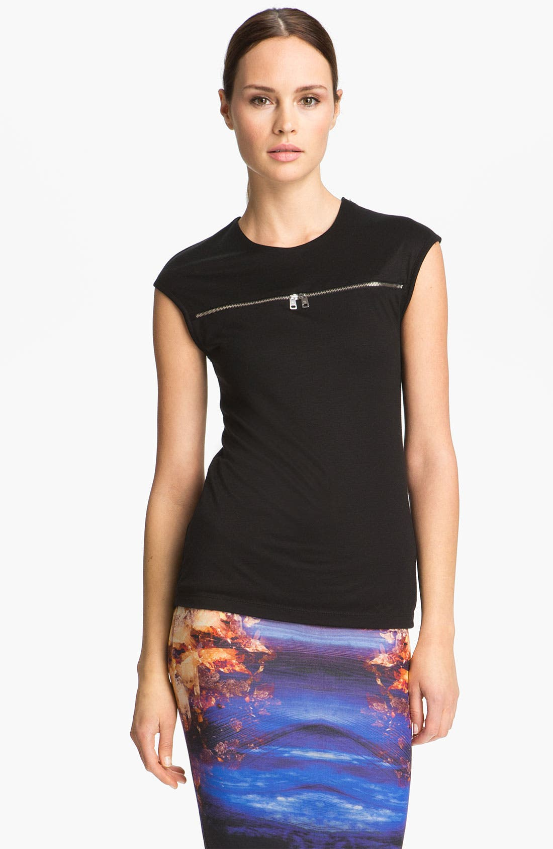 Alternate Image 1 Selected - McQ by Alexander McQueen Zip Detail Knit Top