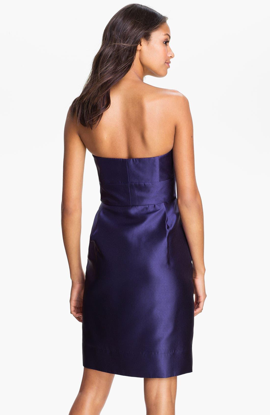 Alternate Image 2  - Eliza J Strapless Taffeta Sheath Dress