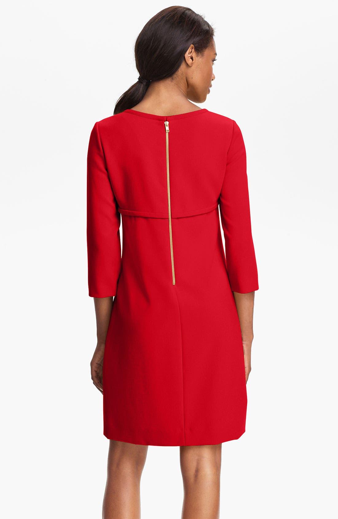 Alternate Image 2  - Tahari Ponte Shift Dress (Petite)