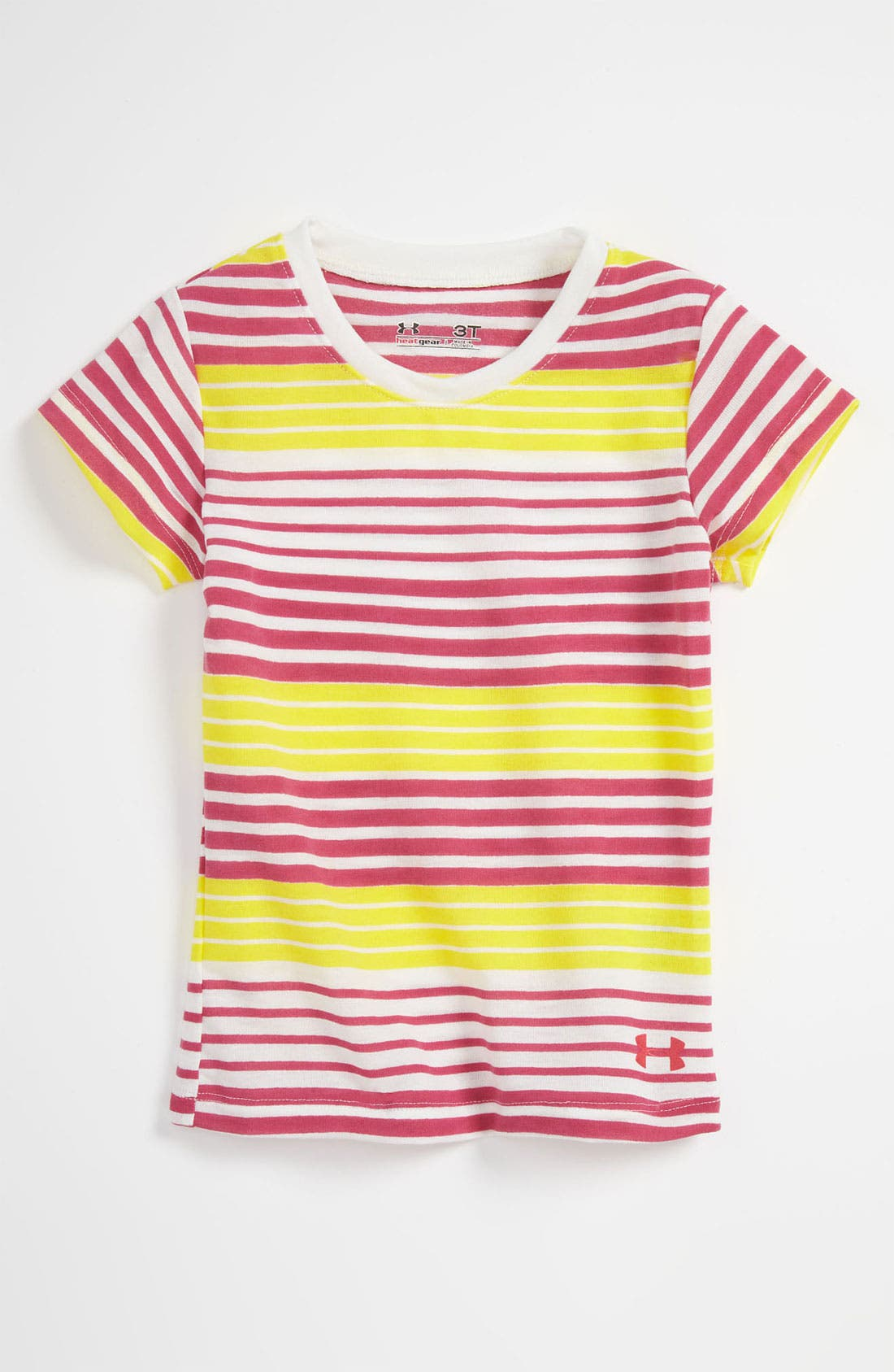 Alternate Image 1 Selected - Under Armour Stripe Tee (Toddler)