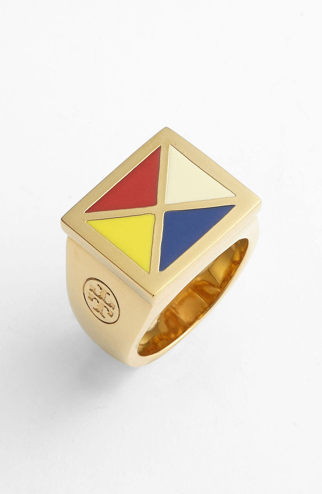 Main Image - Tory Burch 'Ahoy' Colorblock Ring