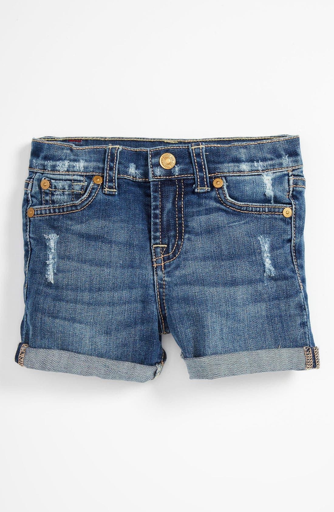 Alternate Image 2  - 7 For All Mankind® Denim Shorts (Toddler)