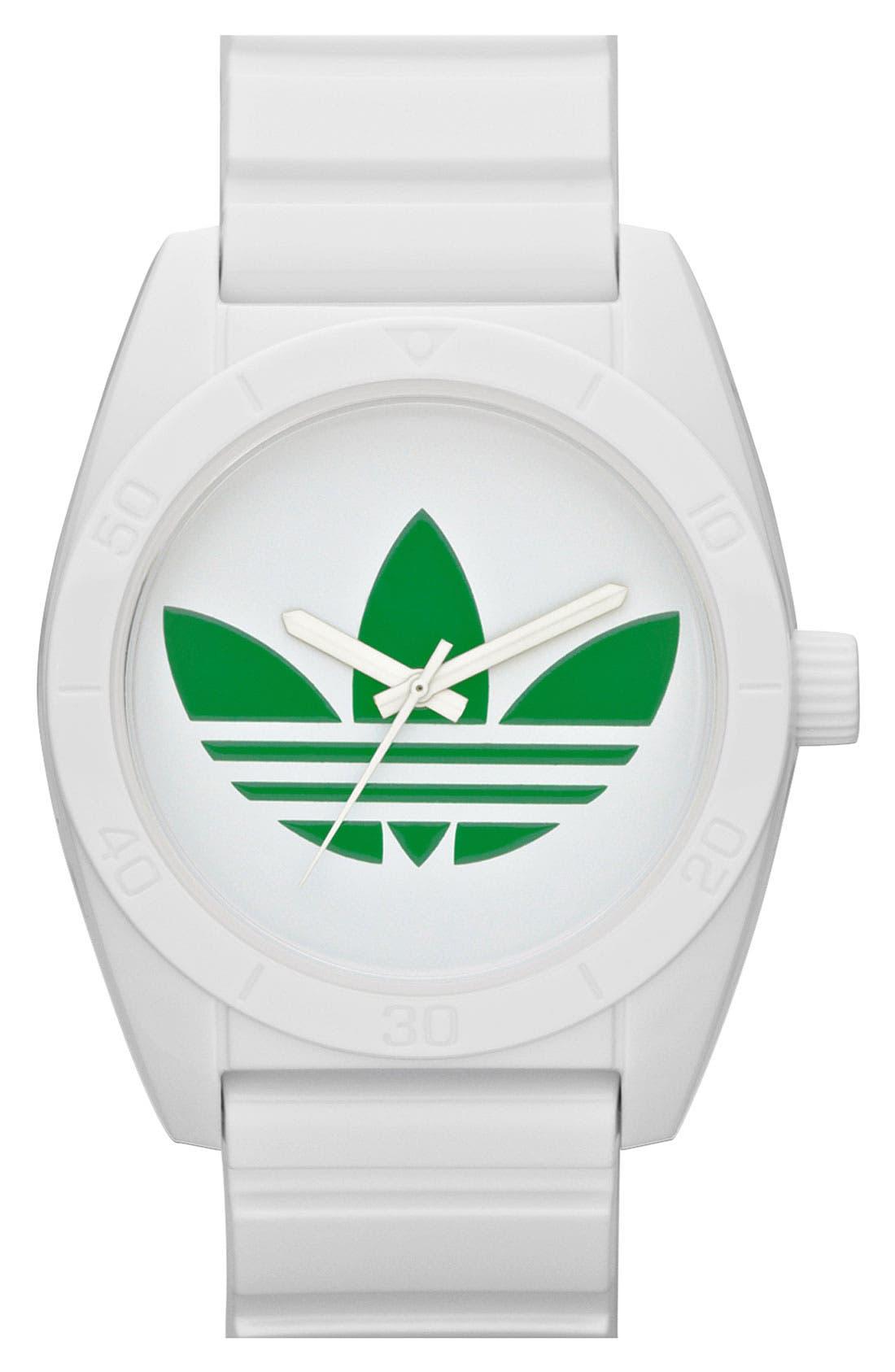 Alternate Image 1 Selected - adidas Originals 'Santiago' Polyurethane Strap Watch