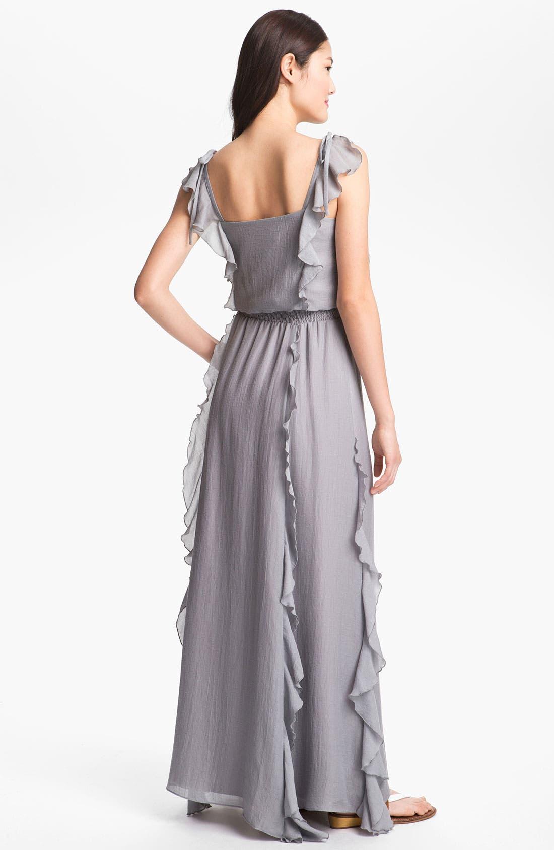 Alternate Image 2  - Jessica Simpson Ruffled Maxi Dress