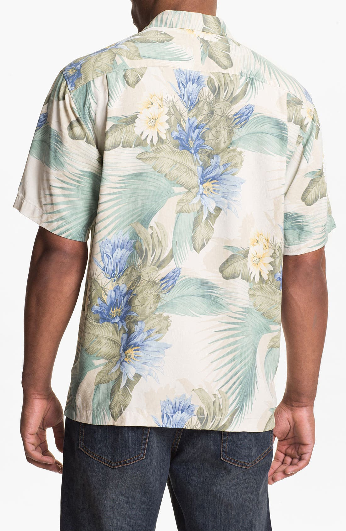 Alternate Image 2  - Tommy Bahama 'Garden of Hope & Courage' Silk Campshirt (Big & Tall)