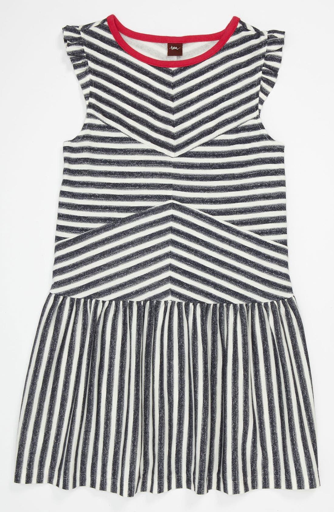 Alternate Image 1 Selected - Tea Collection 'Zebra Stripe' Flutter Dress (Toddler, Little Girls & Big Girls)