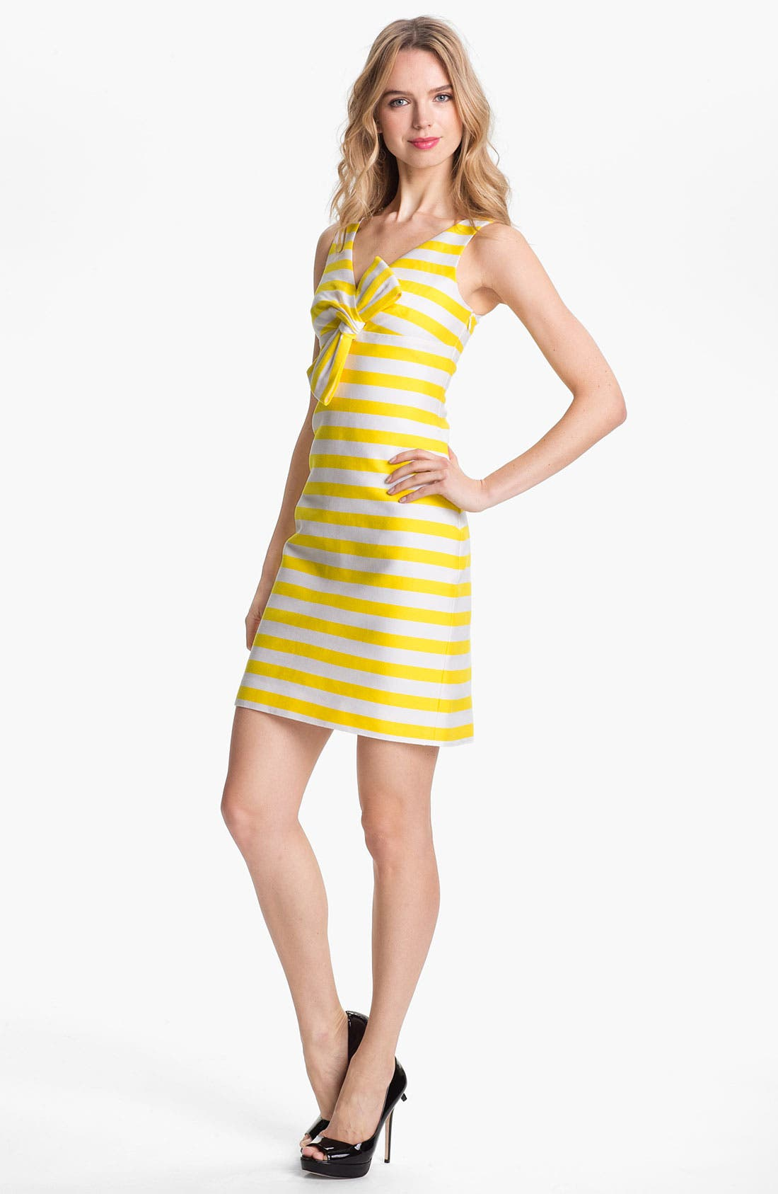 Alternate Image 1 Selected - kate spade new york 'silver screen' cotton & silk a-line dress