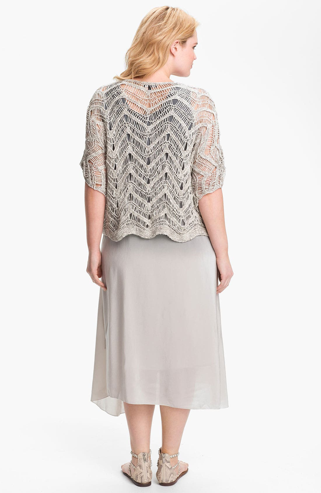 Alternate Image 5  - Eileen Fisher Open Stitch Pullover Sweater (Plus Size)