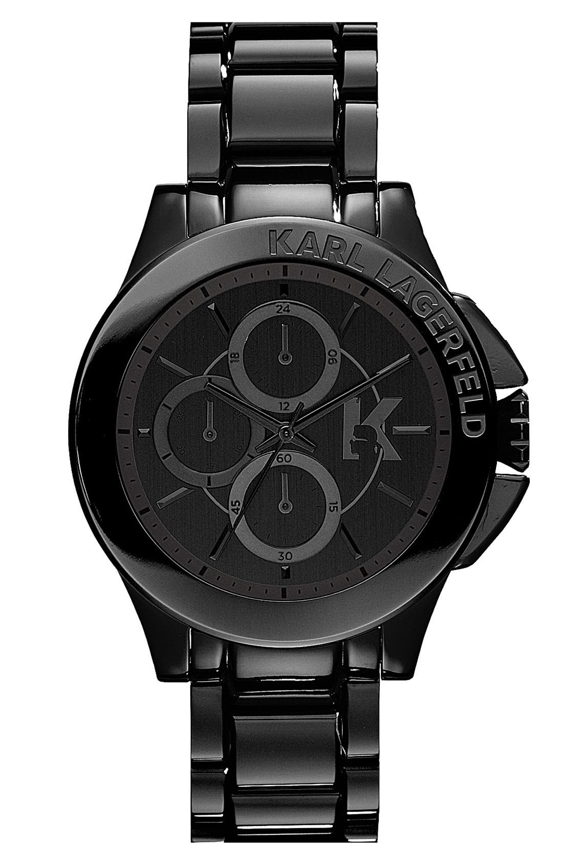 Main Image - KARL LAGERFELD 'Energy' Chronograph Bracelet Watch, 40mm