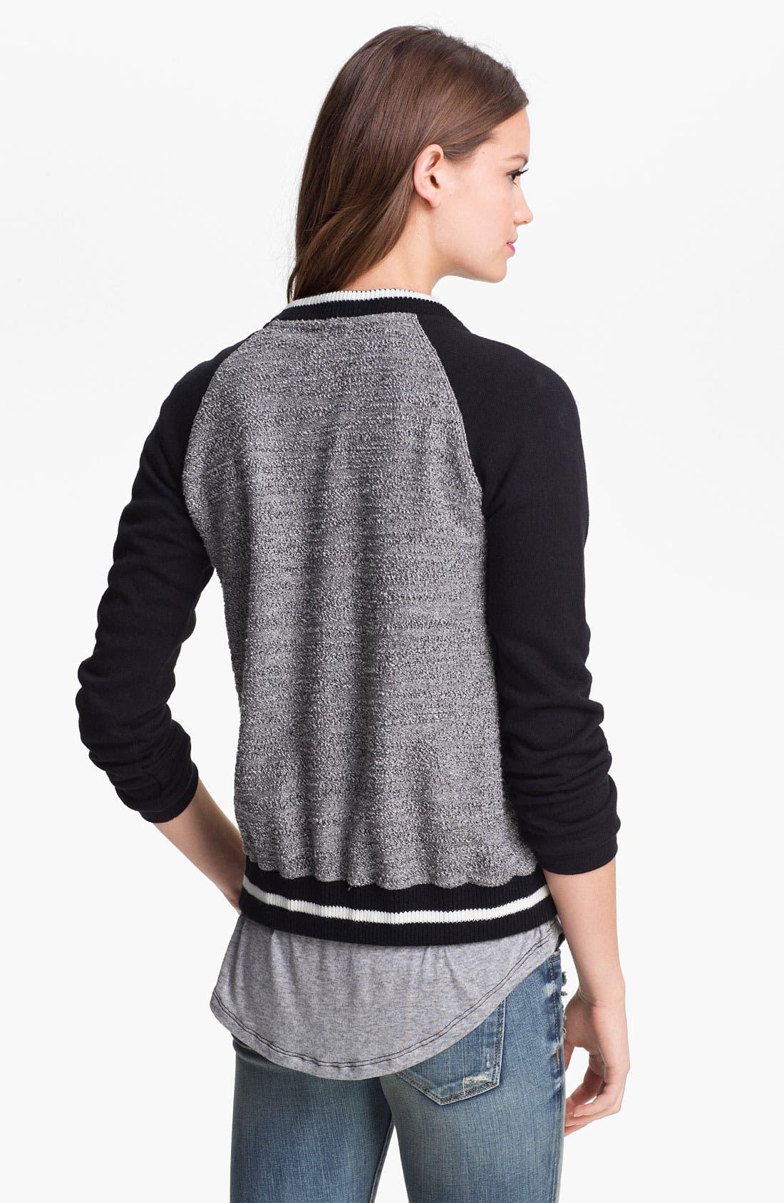 Alternate Image 2  - KUT from the Kloth Baseball Sweater Jacket