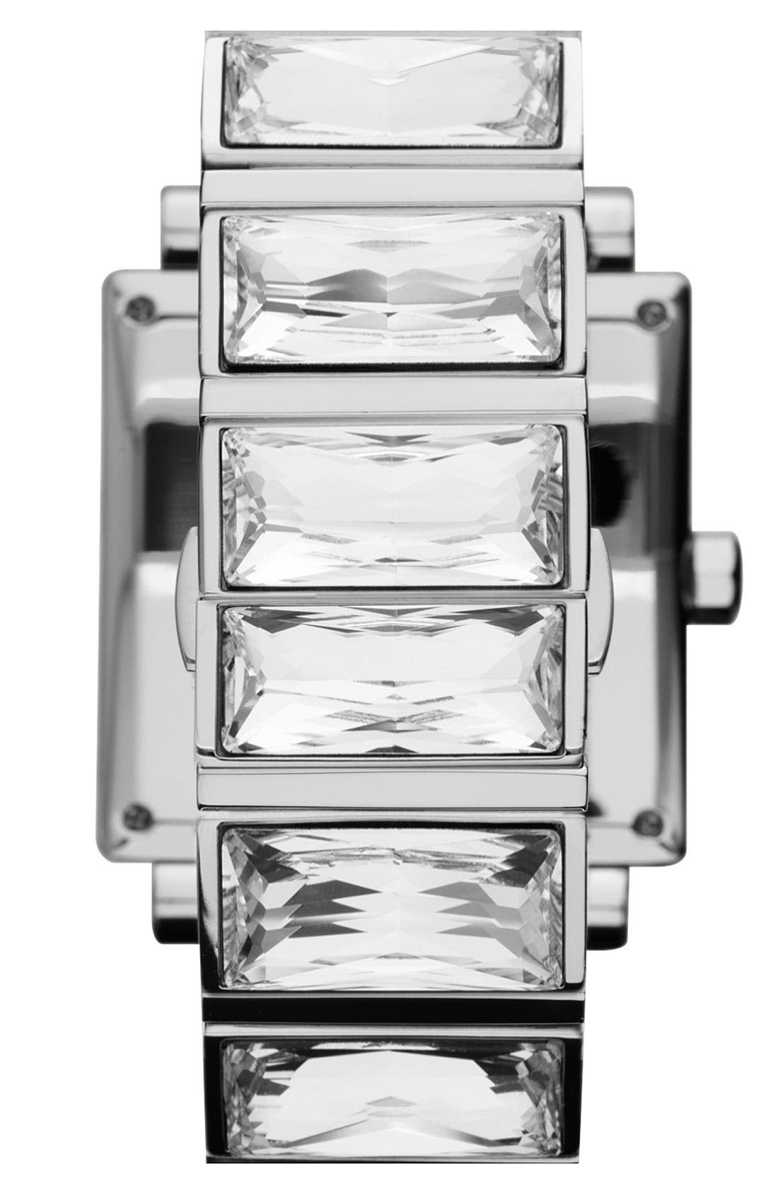 Alternate Image 3  - Michael Kors 'Uptown' Baguette Crystal Square Case Watch