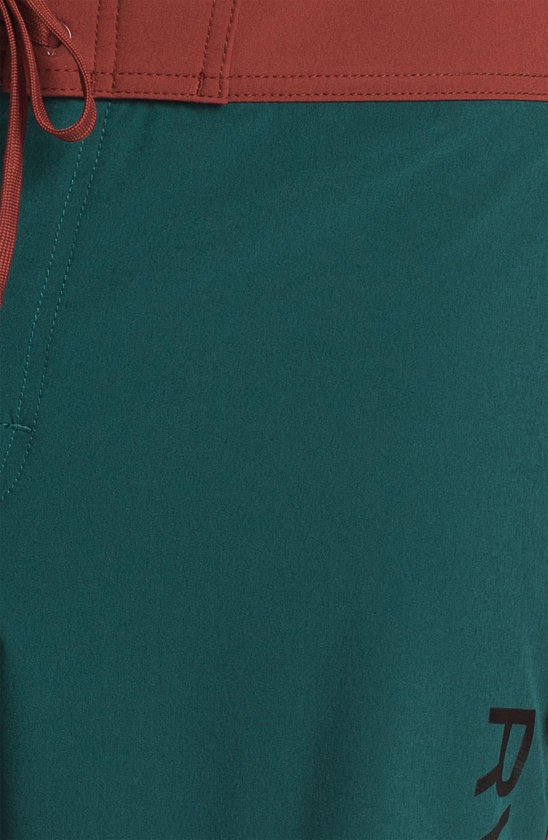 Alternate Image 3  - RVCA 'Eastern' Scalloped Hem Board Shorts