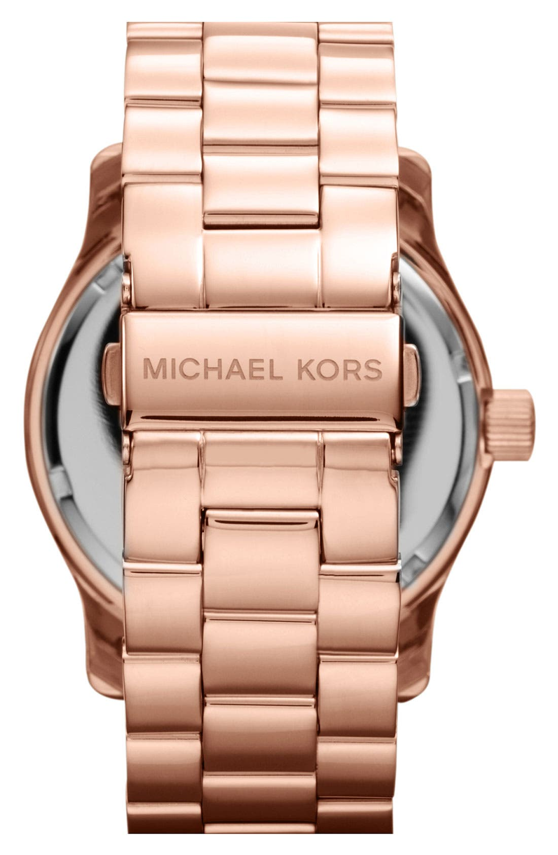 Alternate Image 3  - Michael Kors 'Runway' Logo Dial Bracelet Watch, 45mm