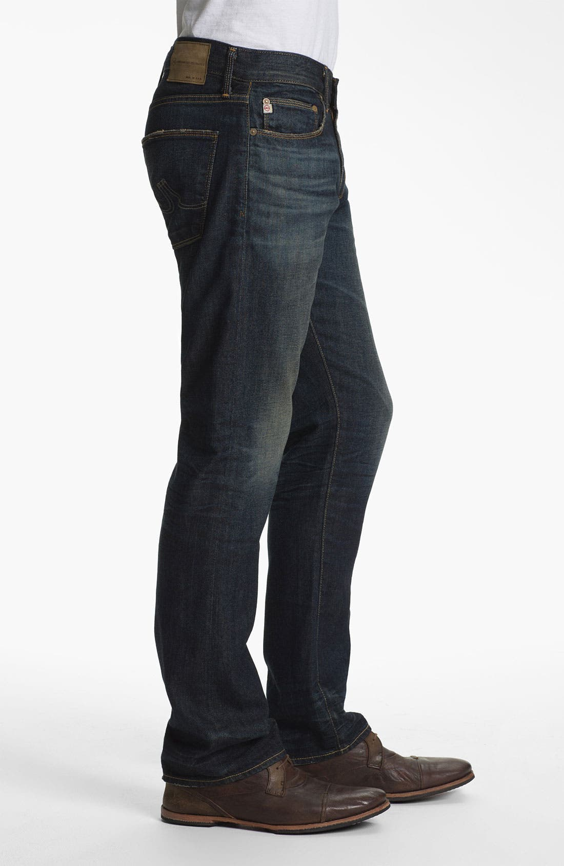 Alternate Image 3  - AG Jeans 'Geffen Easy Slim' Straight Leg Jeans (5 Years Raw Fade)