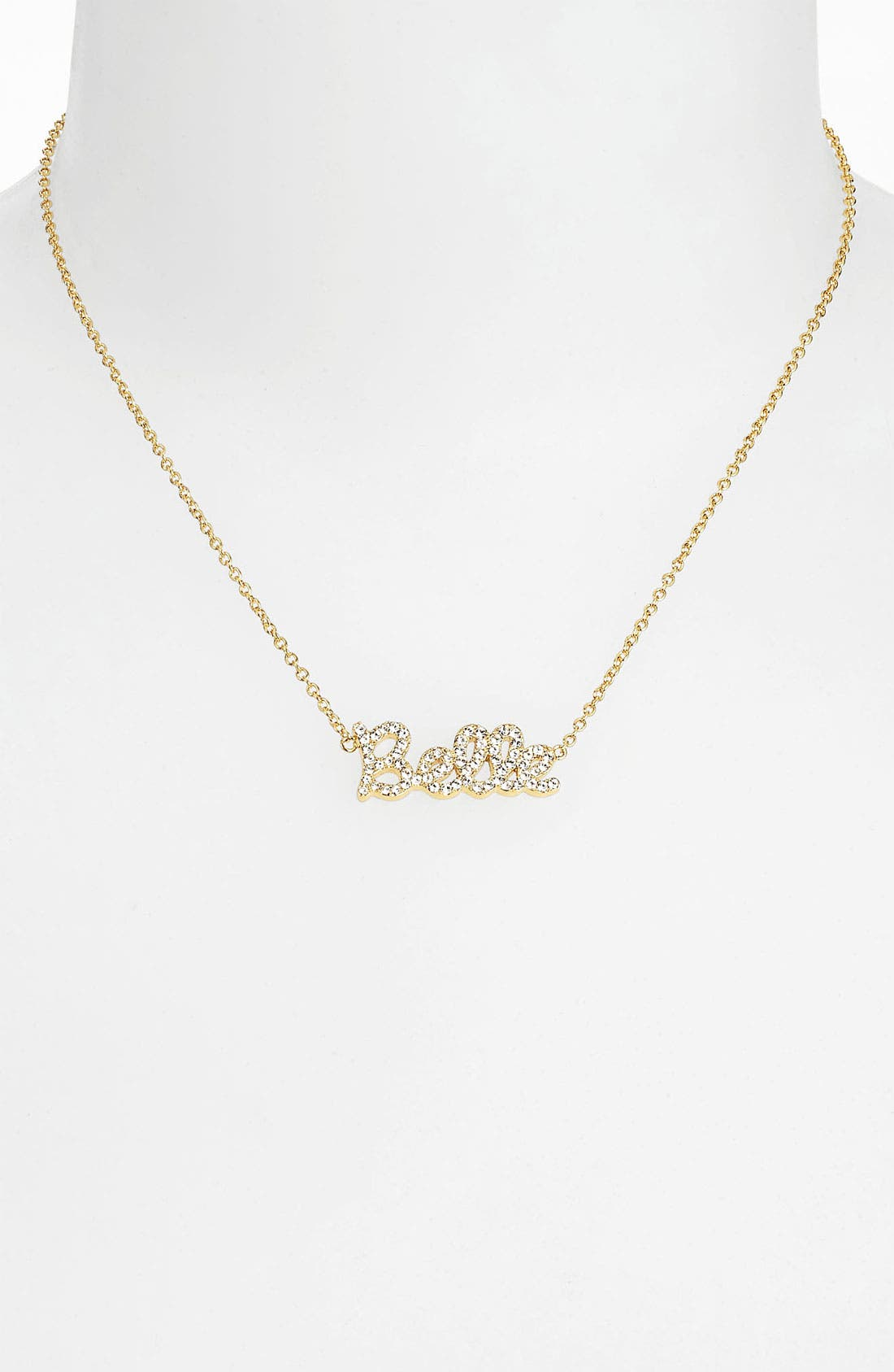 Alternate Image 2  - Ariella Collection 'Messages - Belle' Script Pendant Necklace