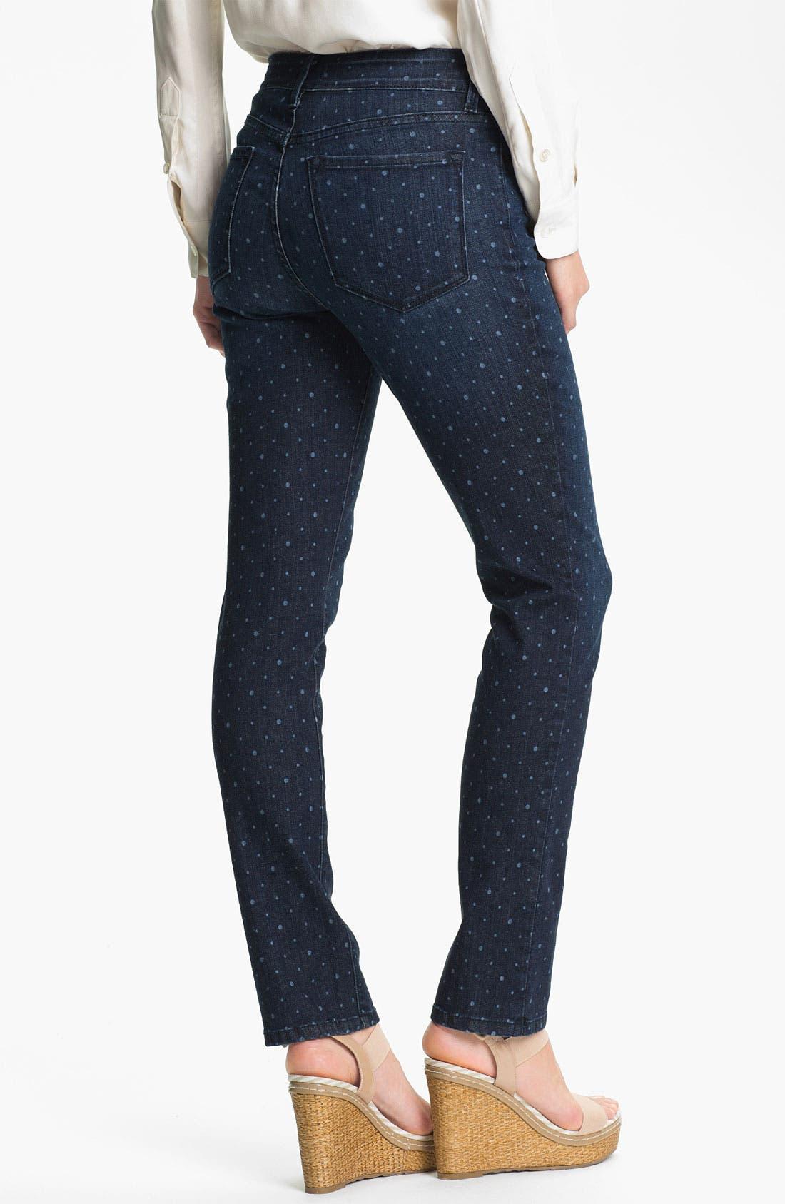 Alternate Image 2  - NYDJ 'Sheri' Dot Print Skinny Ankle Jeans