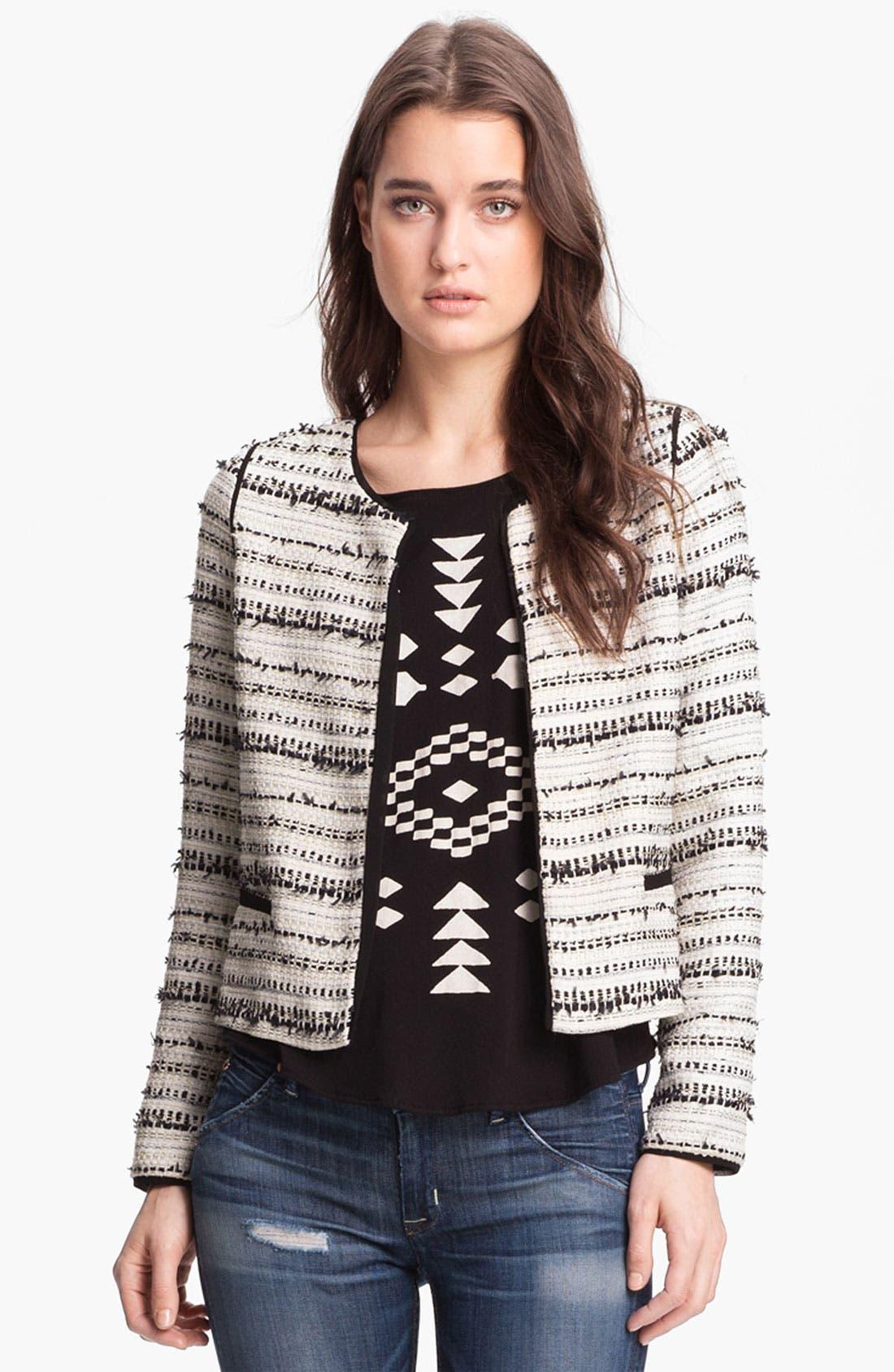 Alternate Image 1 Selected - Willow & Clay Metallic Thread Tweed Jacket