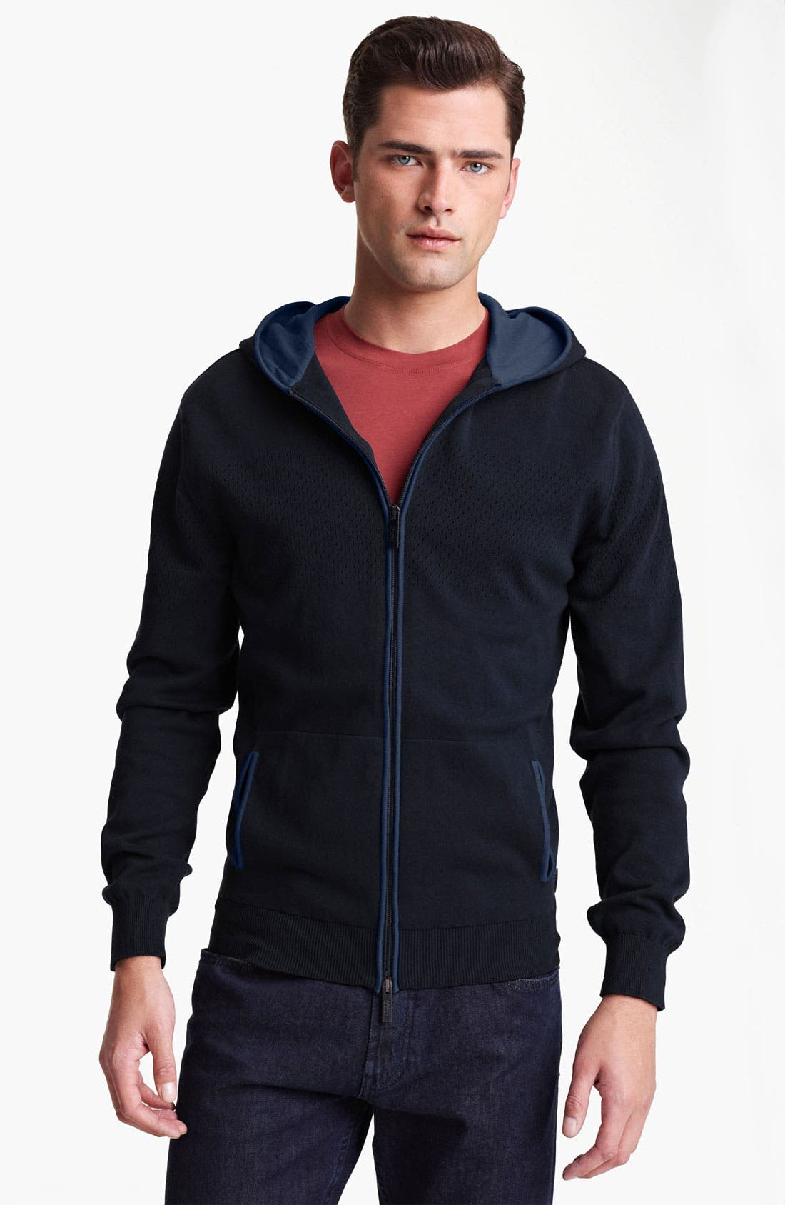 Alternate Image 1 Selected - Armani Collezioni Hoodie