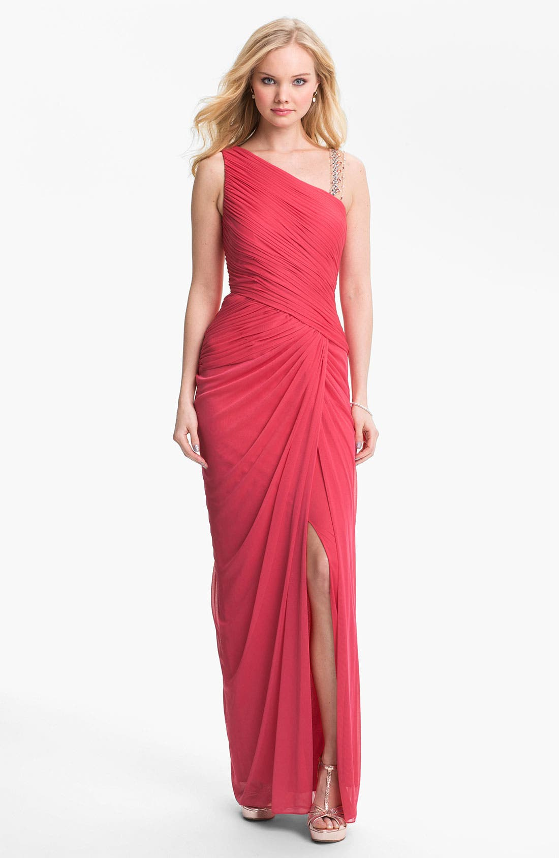 Alternate Image 1 Selected - Adrianna Papell Embellished Mesh Gown