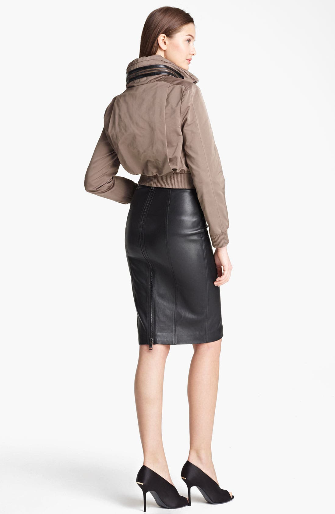 Alternate Image 2  - Burberry London Taffeta Crop Jacket