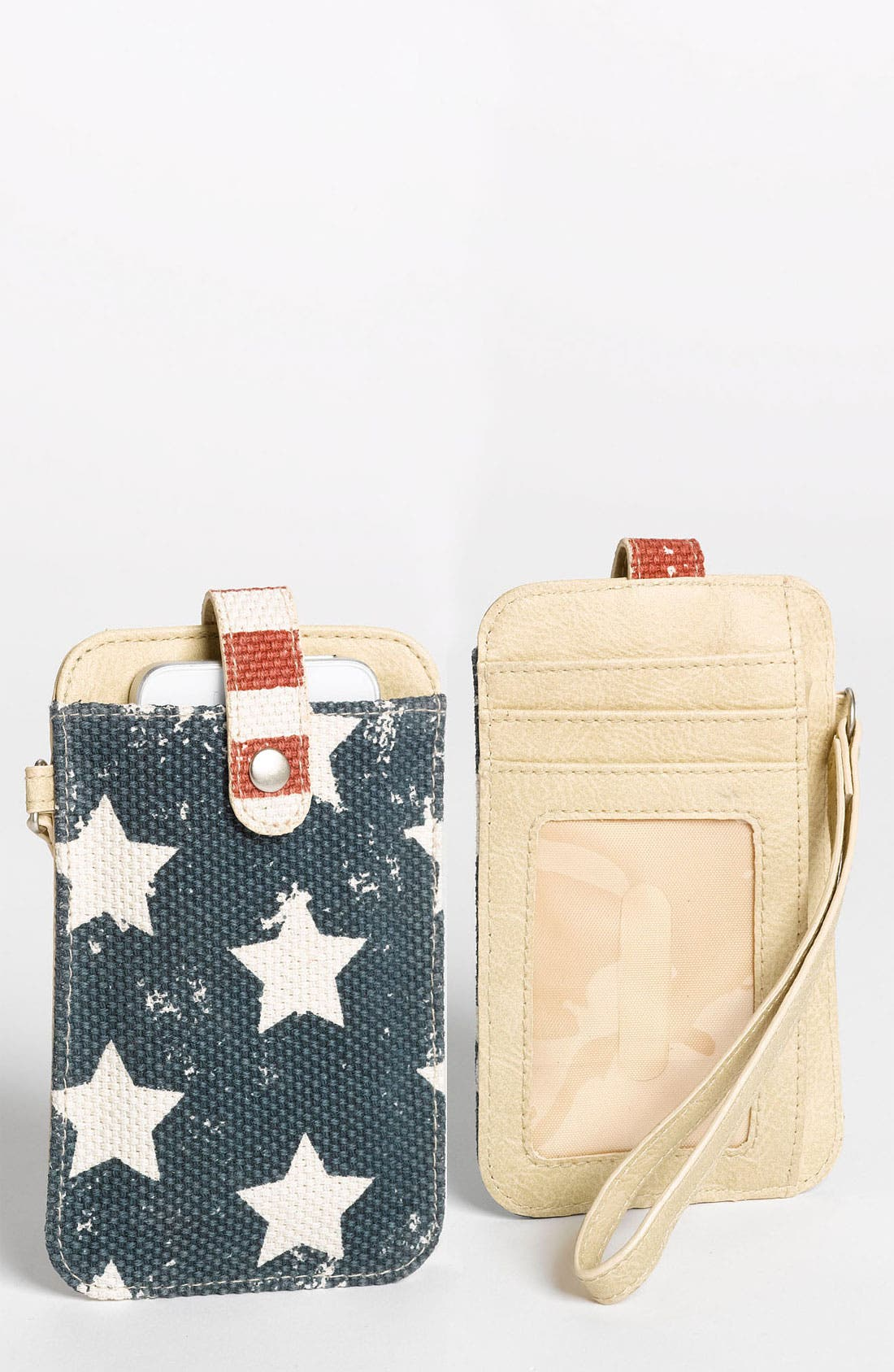 Alternate Image 1 Selected - T-shirt & Jeans 'American' Smartphone Wallet Case