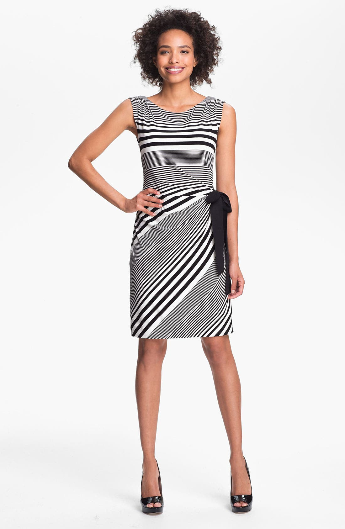Main Image - Tahari Stripe Jersey Sheath Dress