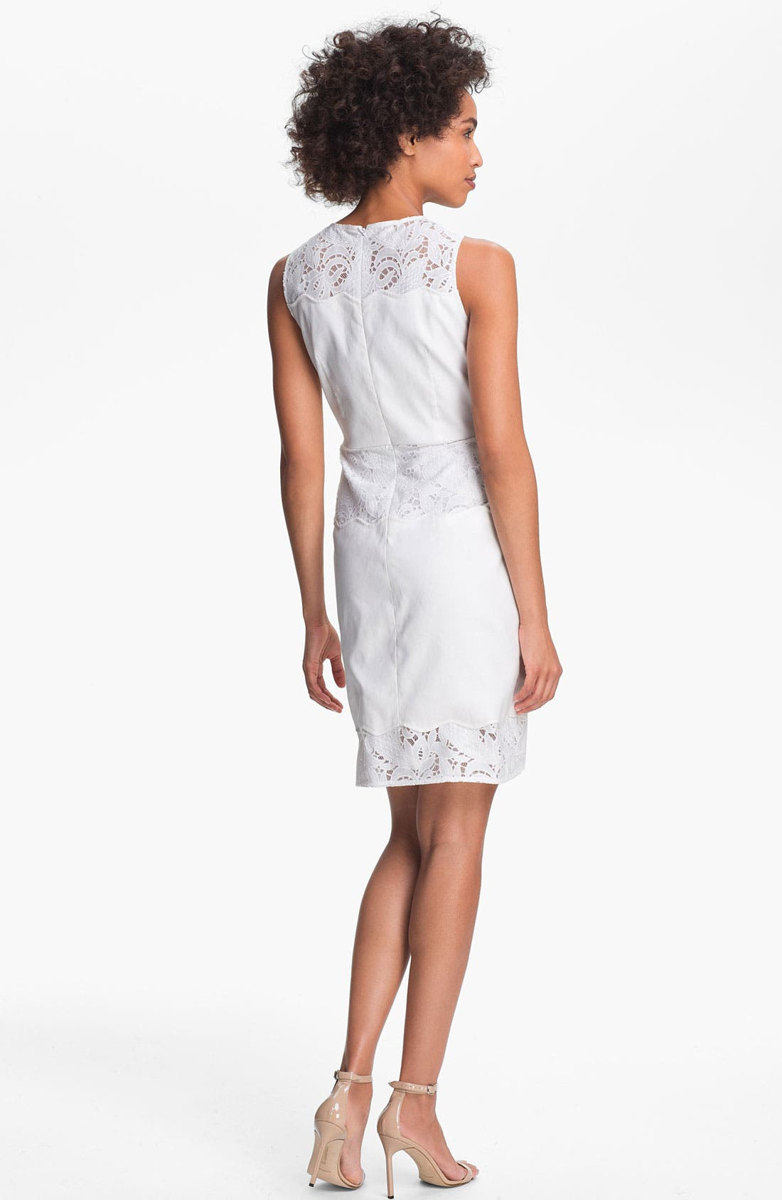 Alternate Image 2  - Tahari Lace Detail Sleeveless Sheath Dress