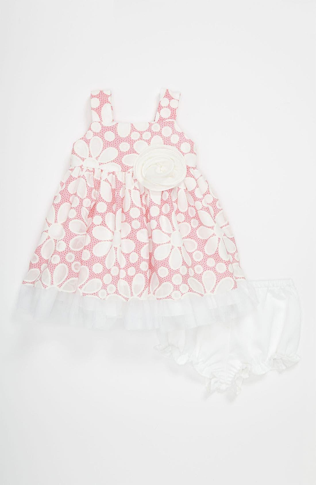 Alternate Image 1 Selected - Pippa & Julie Burnout Dress (Baby Girls)