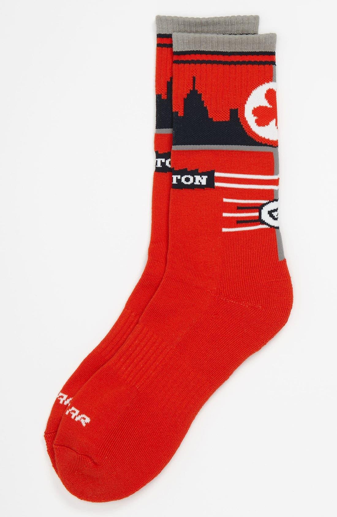 Alternate Image 1 Selected - G 206 Wear 'Boston Skyline' Socks (Big Kid)