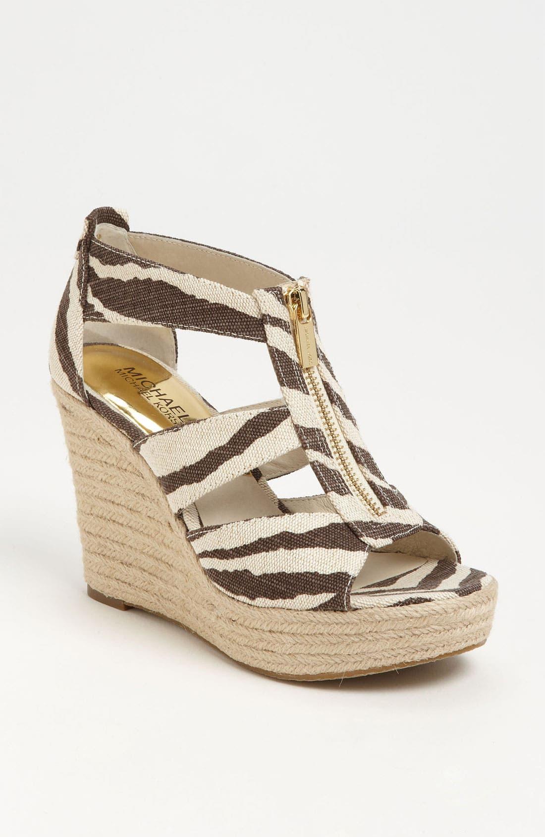 Alternate Image 1 Selected - MICHAEL Michael Kors 'Damita' Wedge Sandal (Women)